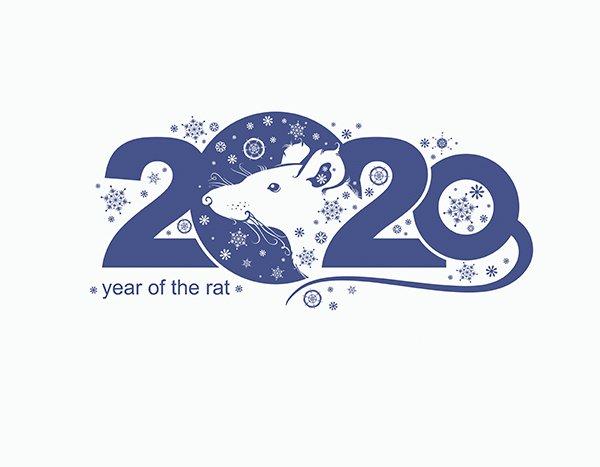 Hình vẽ vector con chuột  cách điệu 2020 đẹp