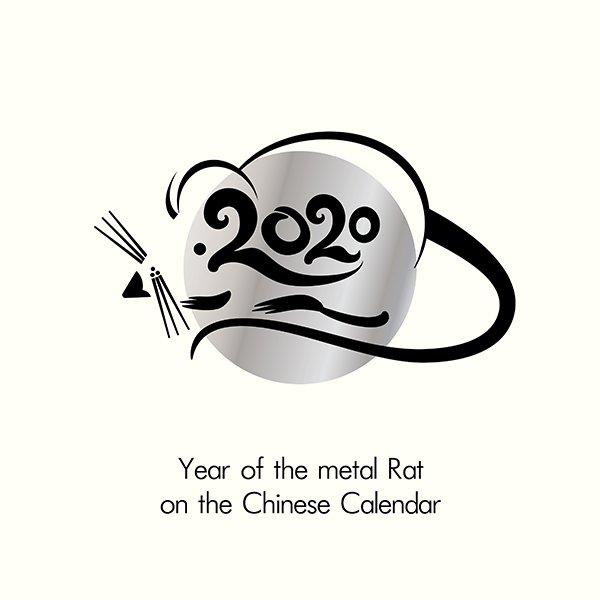 Vector hình vẽ con chuột  thiết kế lịch tết 2020